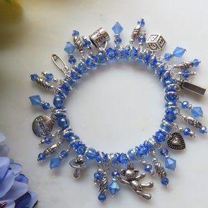Charm bracelet - Baby Boy Blue